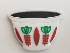 Ethiopian Coffee cup (Sini- ሲኒ) fridge magnet souvenir (Red)
