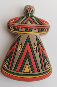 Ethiopian traditional food basket (Mesob - መሶብ) fridge magnet souvenir